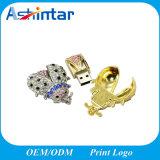 Clé de mémoire USB de bijou en métal de lecteur flash USB de diamant mini