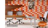 Gules 3X6inch/7.5X15cm glatte glasig-glänzende keramische Wand-Untergrundbahn-Fliese-Badezimmer-/Küche-Dekoration
