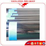 Tubo hueco circular soldado negro del tubo de acero de la sección del carbón del tubo de acero