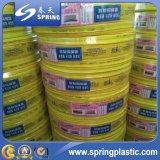 Boyau renforcé clair de ressort du boyau de fil d'acier de PVC/PVC
