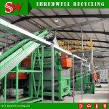 desperdício 300kg/T/sistema usada/da sucata pneu de recicl ao pneumático do Shredder à migalha de 1-5mm