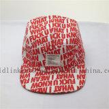 印刷されるスクリーンをくまなく習慣は5つのパネルの学校の帽子に文字を入れる