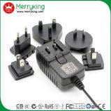 Schaltungs-Energien-Adapter des Wand-Montierungs-auswechselbarer Stecker-12V 2A