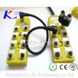 -Кодирвоание 8ports для кабеля M12 отлитого в форму прекращением с распределительной коробкой номинальности IP67