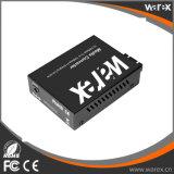 중대한 성과 매체 변환기 BIDI 10/100/1000BaseT (X) 1000MBase-BX T1310/R1550nm SC 60km에