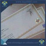 Certificat de papier de document de garantie d'impression de filigrane