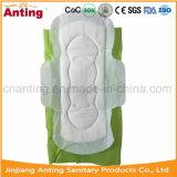 Guardanapo sanitário do algodão orgânico descartável feito sob encomenda agradável do uso da noite da qualidade com aníon