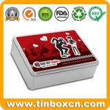 Навесная прямоугольный металлический ящик для хранения подарок Тин для чаепития