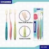 Toothbrush adulto com as cerdas macias Nano 2 em 1 bloco 506 da economia