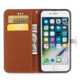 Caja del teléfono móvil del cuero de la buena calidad para el iPhone 7