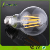 6W 8W E27 2700K 6000K Retro LED regulable bombilla de incandescencia