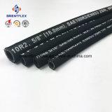 Boyau hydraulique de tresse en caoutchouc à haute pression de fil d'acier