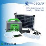 10W Inicio Panel Solar el Kit de iluminación con luces LED de 4