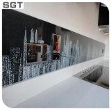 impresión decorativa coloreada templada 4-9m m de Digitaces del arte de cristal