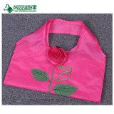 Mehrfachverwendbare verstärkte Griff-Lebensmittelgeschäft-große kundenspezifische Rosen-Form-faltende Einkaufstasche/fördernder Beutel