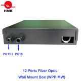 Caixa da montagem da parede da fibra óptica de 12 portas