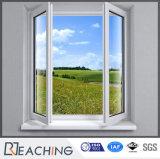 스테인리스 증강을%s 가진 백색 UPVC 여닫이 창 Windows