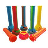 Tubulações de água coloridas por atacado do silicone para fumar a tubulação de vidro Unbreakable