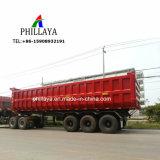 Sand-Felsen-Transport-hydraulischer neigender LKW-halb Schlussteil-Kipper