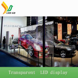 Afficheur LED de verre transparent de P5mm avec le taux transparent de 80%