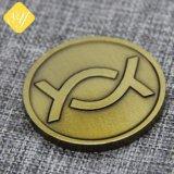 prix d'usine plaqué laiton personnalisée célébration pièces de cuivre
