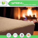 Protector coralino impermeable respirable del colchón del paño grueso y suave