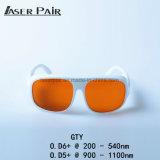 Óculos de Segurança de laser de onda proteger: 200-540nm & 900-1100nm 532nm e 1064nm para 2 linhas e YAG Laser Ktp 532nm