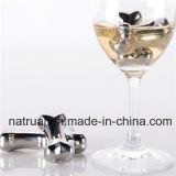 Камни вискиа, охлаждая многоразовая сталь кубика льда для пить напитков и вино