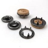 Coberto com as teclas instantâneas de madeira da tecla de madeira da pressão do Prong do metal