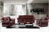 Sofà di cuoio moderno con la mobilia del sofà del cuoio genuino