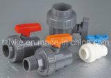 Válvula de bola PVC/un tipo de unión/agricultura Uso/Tubería Constrution/Gris Color del cuerpo