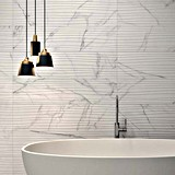 En marbre blanc de Carrare Saw-Pulled Surface plancher en porcelaine Wall Tile