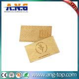 호텔 자물쇠를 위한 Ntag213 목제 RFID 대나무 카드