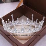 A coroa nupcial personalizada a mais nova de 2018 tiaras de vidro de cristal barrocas do presente da festa de Natal de Stonne da decoração do casamento da coroa (BC-10)