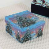 Vela de Navidad papel de embalaje de regalo Storge caja con el logotipo personalizado