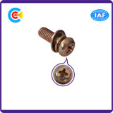 DIN и ANSI/BS/JIS Carbon-Steel/Stainless-Steel Креста пластину блока цилиндров комбинации винтов многоцветное комбинации винтов