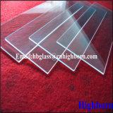 Clair de haute pureté Square de la plaque de verre de quartz silice