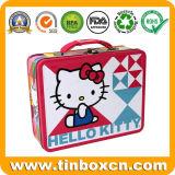 Hello Kitty Almoço de metal de estanho Caixa para crianças