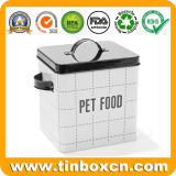 Прямоугольная коробка олова еды любимчика для упаковывать печений кота