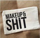 Bolso impreso por encargo del maquillaje de la lona para el bolso cosmético