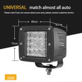 5000 루멘은 2 색깔 6500K Offroad 트럭을%s 스트로브에 의하여 파열된 번쩍이는 72W 3inch 크리 사람 자동 사각 LED 일 빛을 도매한다