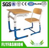 Escritorio del estudiante de los muebles de escuela de Simle solo con la silla (SF-07S)