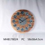Plancha de metal redondo Reloj de pared para la decoración del hogar