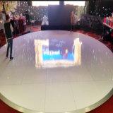 携帯用合板の結婚式のホテルの装飾のための円形の白28FTのダンス・フロア