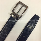 Casual Dark Blue Pinhole Gum Leather Belt