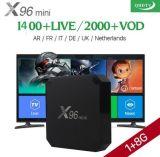Smart TV Box X96 Mini 1G/8g avec 1 an d'Android IPTV de canaux de télévision française libre 1800l'Europe Leadcool Set Top Box