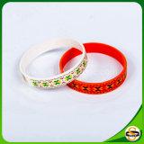 Silk Bildschirm-Drucken-Silikon-Gummi-Armbänder für Dekoration-Geschenk
