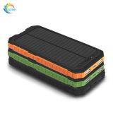 Водонепроницаемый внешний резервный аккумулятор 10000mAh солнечной энергии банка