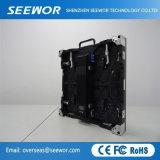 Kontrastreiches P3.91mm örtlich festgelegtes farbenreiches LED-Bildschirmanzeige-Innenpanel mit dem 500*500mm Schrank