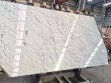 Каррарского мрамора белого слоя для кухни и ванной комнатой/стены и пол